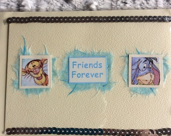 Friends forever Winnie the Pooh greeting card