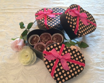 Rich Chocolate Fudge in a Valentine's Day Heart Box, Nut Free Chocolate Fudge, Valentine's Day Chocolate Candy, Gifts For Her, Gift Basket