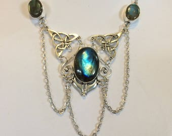 Blue fire labradorite necklace