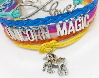 Unicorn Magic, Rainbow Unicorn, Rainbow Bracelet, Unicorn Gift Ideas, Unicorn Gifts, Unicorn Lovers, Unicorn, Unicorn Bracelet,