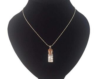 Handmade little gem vial necklace (crystal)