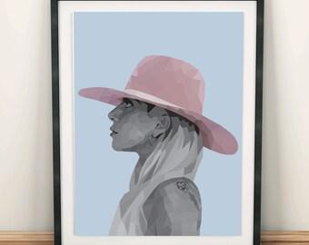 Lady Gaga Poster, Printable Wall Art