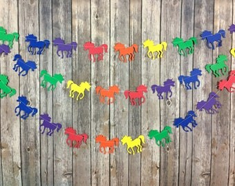 Rainbow Unicorn Garland, Unicorn Party