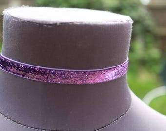 Sparkly Purple Choker Necklace
