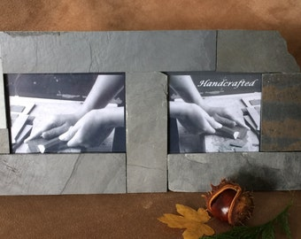 Natural Slate Photo Frame - 2 Photos