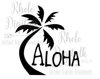 Aloha Palm Tree-Instant Digital Download