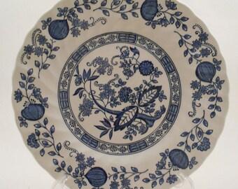Blue Onion Side / Dessert Plate - Myott Meaking – Staffordshire England - Hand Engraved 17.5 cm