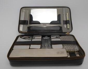 Vintage French Vanity Case - 12 Accessories - SERGE