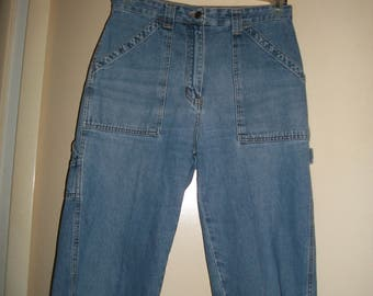 Vintage Bill Blass Denim Carpenter Capri Pants Size 8