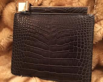 Vintage judith leiber alligator clutch purse