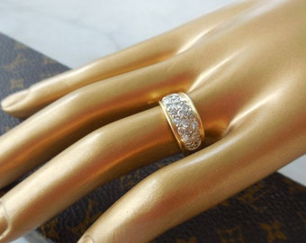 Gold 18 CT, diamonds ring