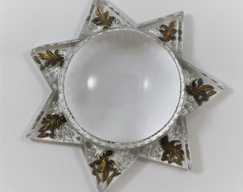 Victorian Mourning Star Paperweight