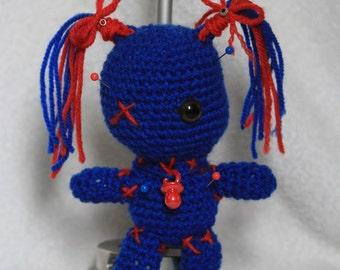 Voodoo doll blue
