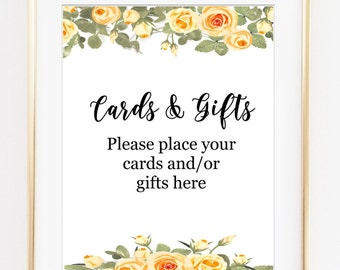 Cards and Gifts Wedding Sign, cards & gifts, gifts wedding sign, wedding gift, table card, printable gifts sign, printable wedding decor