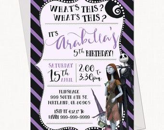 Nightmare Before Christmas Birthday Invitation // Kid Birthday Invitation - Printable Template