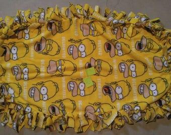 The Simpsons Blanket Etsy