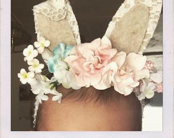 Shabby Chic Baby Springtime Bunny Ears