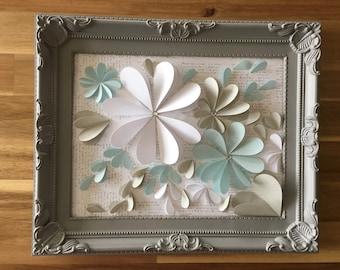 3D flower free standing frame.