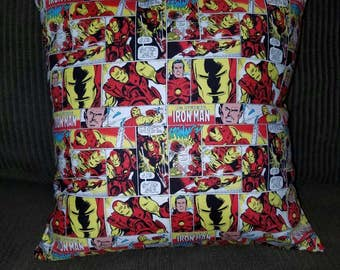 16x16 Decorative Throw Pillow featuring Iron Man Comic (with Insert)