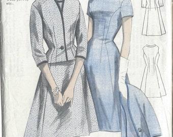 1960s Vintage Sewing Pattern B38 DRESS & JACKET (R664)  Maudella 5218