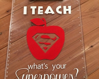 I Teach.. What's Your Superpower (clipboard)