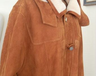Men's fur coat jenuine leather lambskin hooded
