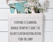 Home alone Tote Bag Donald Trump gift Funny Tote Bag Gym Tote Bag Shopping Bag Gift For Her Cotton Tote Bag Canvas Tote bag Tote