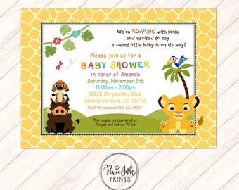 Great Simba Baby Shower Invitation, Jungle Baby Shower Invitation, Simba  Invitation, Jungle Baby Shower
