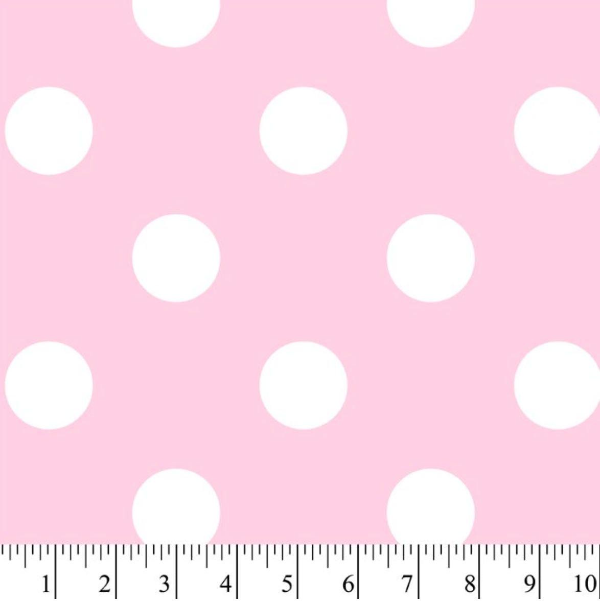 49cb75e23 New! Dots Pink Anti-Pill Fleece Fabric by the yard  David Textiles ...