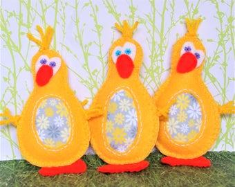 Felt Easter Ornaments, Easter Decorations, Easter Basket Stuffers, Easter Chickens, Easter Table Decorations, Duck Ornaments Easter Tree