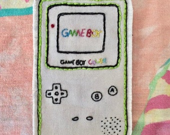 Nintendo Game Boy Color Pin or Patch- Hand Embroidered