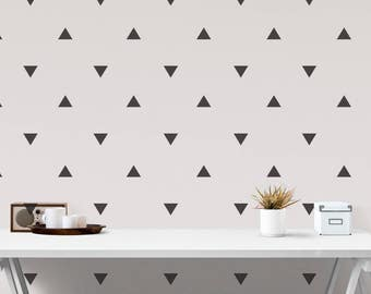 Nursery Wall Decals, Triangle Stickers, Wall Stickers Triangle decals, Triangle Stickers, Vinyl Wall Stickers , Kids Room Peel and Stick,
