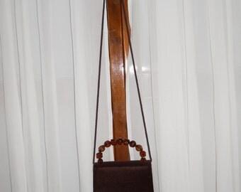 Authentic vintage Laura Biagiotti bag ! velvet !