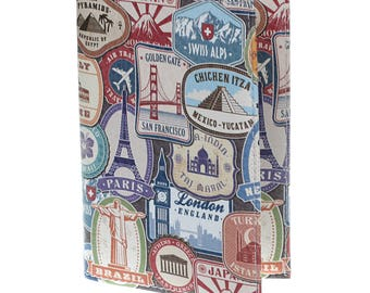 Protects Passport - Holster Passport leather - capitals of the world