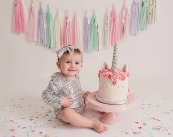 Sequin smash cake outfit