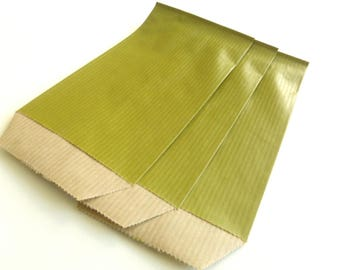 50 covers 7 cm * 12 cm bags Kraft Olive green gifts