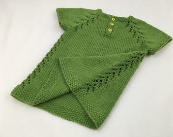 Green Knit Baby Dress