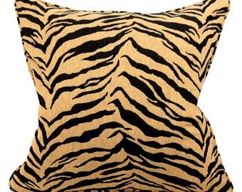 Bengal Tiger Animal Print 20 Inch Lumbar Decorative Pillow Covers