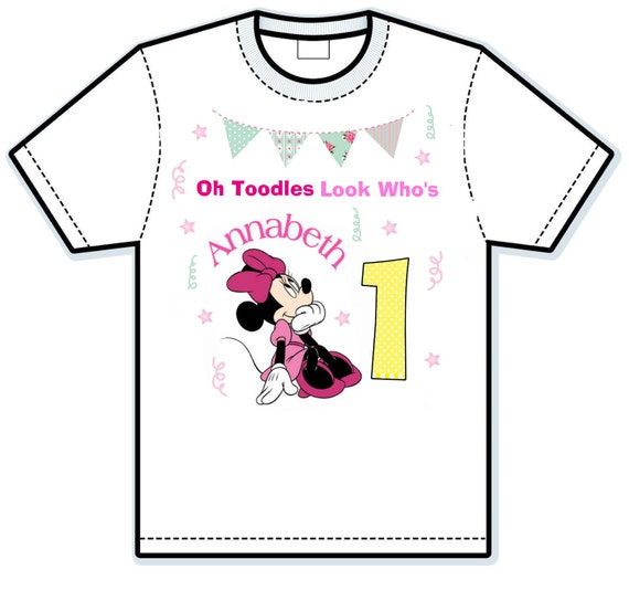 Disney Minnie Mouse Oh toodles birthday shirt
