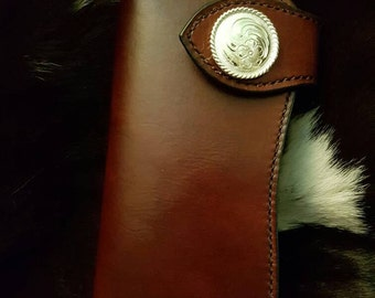Ladies handcrafted leather wallet