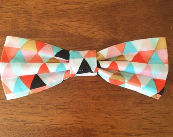 Fancy triangles pet bow tie for dog