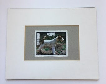 Wire Fox Terrier Postage Stamp from Bhutan