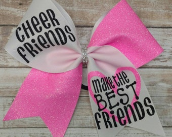Best friends cheer bow,  you pick colors