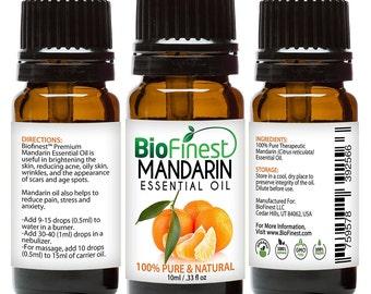 BioFinest Mandarin Oil - 100% Pure Mandarin Essential Oil - Brighten Skin, Reduce Acne, Scars, Age Spots - Premium Quality -