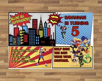 DC Superhero Girls Invitations