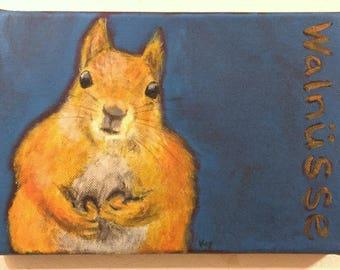 Walnuts: Original Acrylic Painting by Kyoko Watanabe