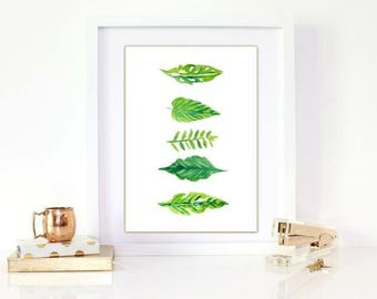 5 leaf watercolour