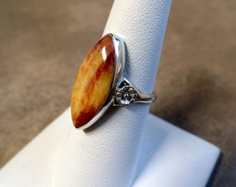 Charming Sterling Silver Spiny Oyster Shell Ring 1147