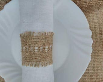 Burlap Napkin Rings , Rustic Wedding Decor, Rustic Wedding Napkin, Wedding Table Decor, Rustic Wedding, Rustic napkin holder.