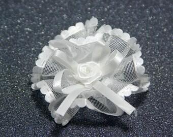 "Wedding Headpiece: ""WHITE FLOWER"" bridal head piece , kids hair piece , bridal flower , blush bridal , hair flower , flower hair-clip T22"